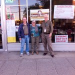 Three members of the Dorry's Diner Discussion Group